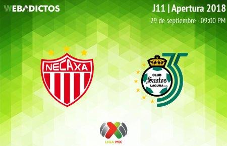 Necaxa vs Santos, J11 de Liga MX Apertura 2018 ¡En vivo por internet!