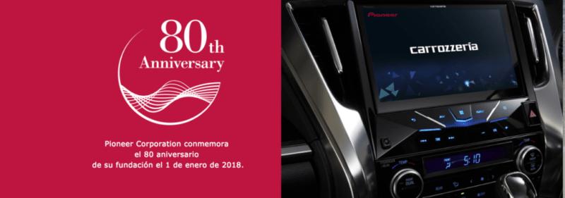 80° aniversario de Pioneer: presenta cuatro nuevas líneas de productos - pioneer_80_aniversario-800x281