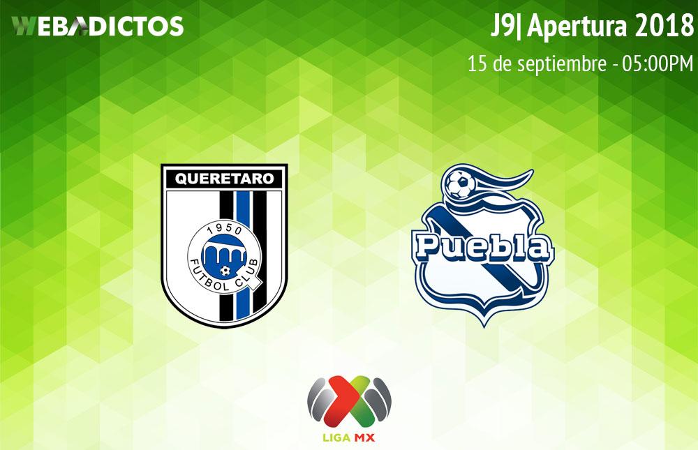 Querétaro vs Puebla, Jornada 9 del A2018 ¡En vivo por internet! - queretaro-vs-puebla-apertura-2018