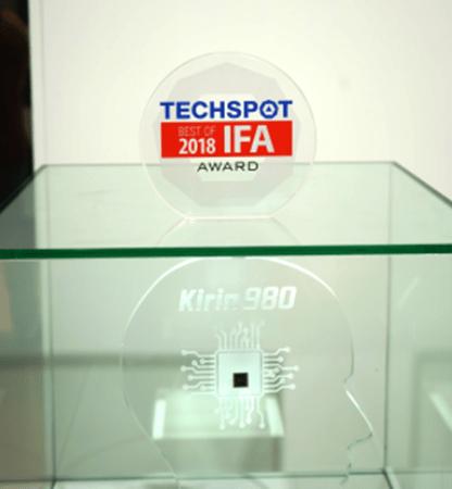 HUAWEI AI Cube, el Kirin 980 y HUAWEI Locator reciben importantes premios durante IFA 2018 - techspot-premio-al-kirin-980-416x450