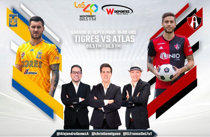Tigres vs Atlas, J8 de la Liga MX A2018 ¡En vivo por internet! - tigres-vs-atlas-radio-apertura-2018