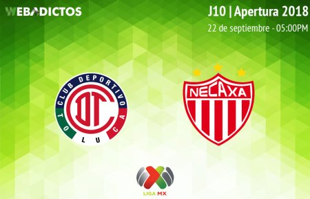 Toluca vs Necaxa, J10 del Apertura 2018 ¡En vivo por internet!