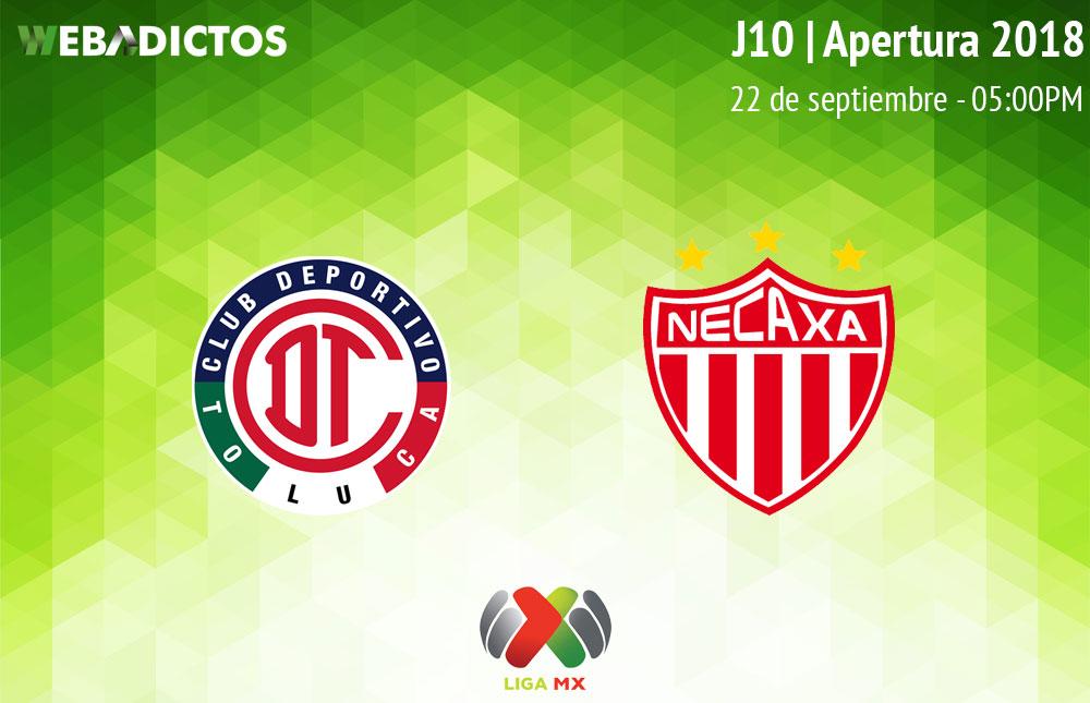 Toluca vs Necaxa, J10 del Apertura 2018 ¡En vivo por internet! - toluca-vs-necaxa-apertura-2018