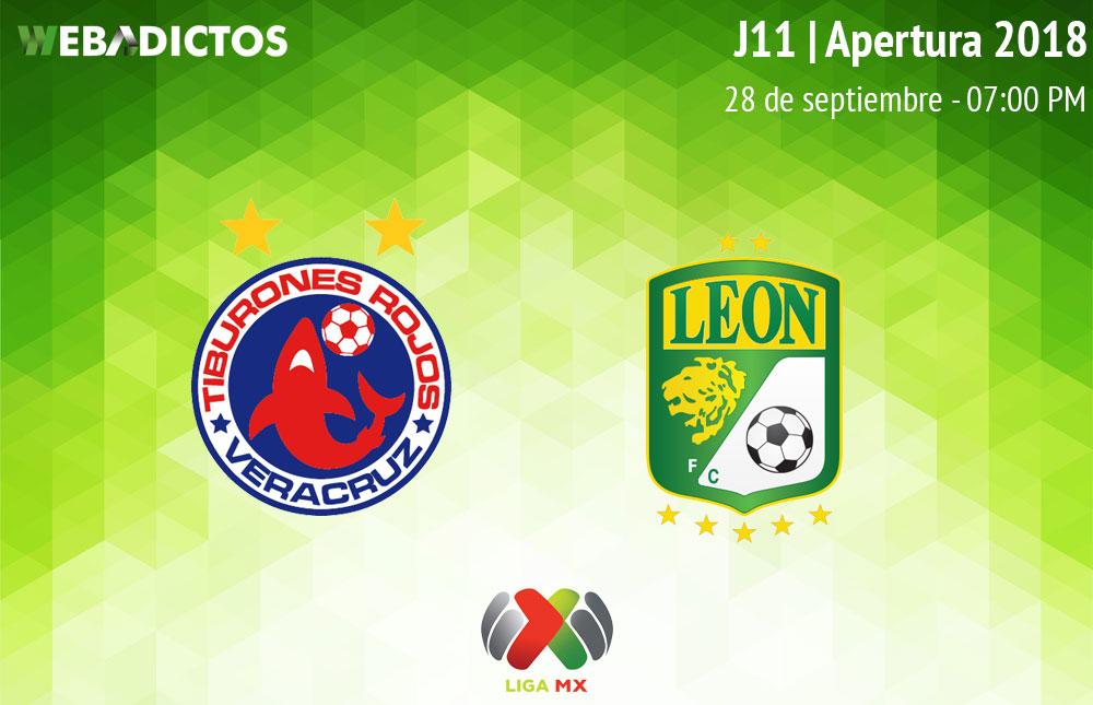 Veracruz vs León, Jornada 11 AP2018 ¡En vivo por internet! - veracruz-vs-leon-apertura-2018