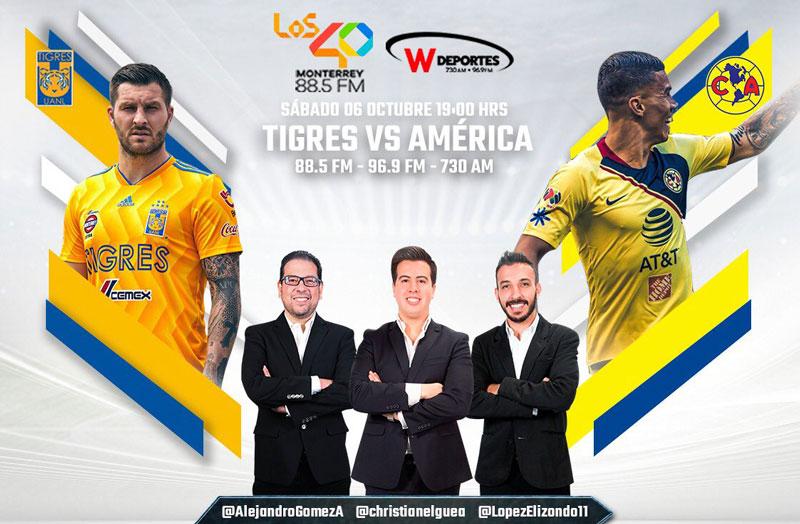 Tigres vs América, J12 de la Liga MX A2018 ¡En vivo por internet! - america-vs-tigres-apertura-2018