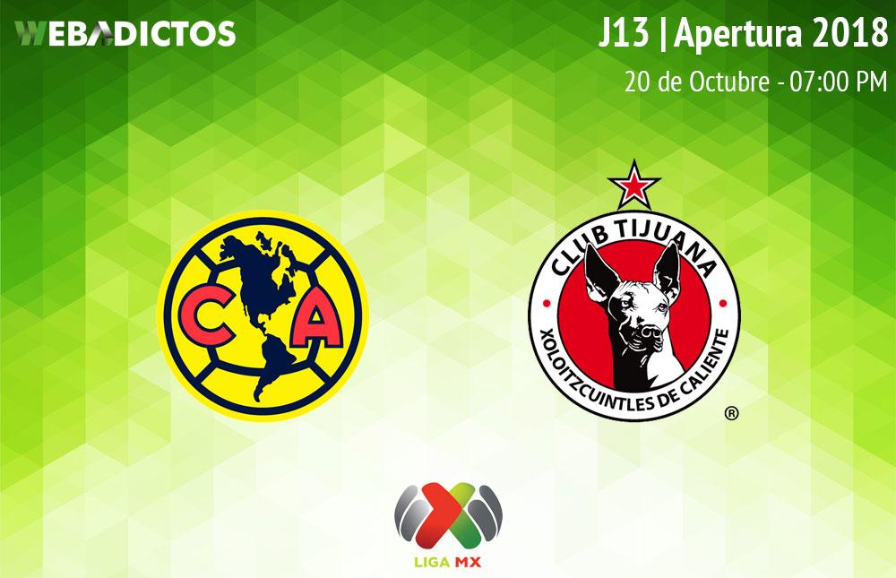 América vs Tijuana, Jornada 13 A2018 ¡En vivo por internet! - america-vs-tijuana-apertura-2018
