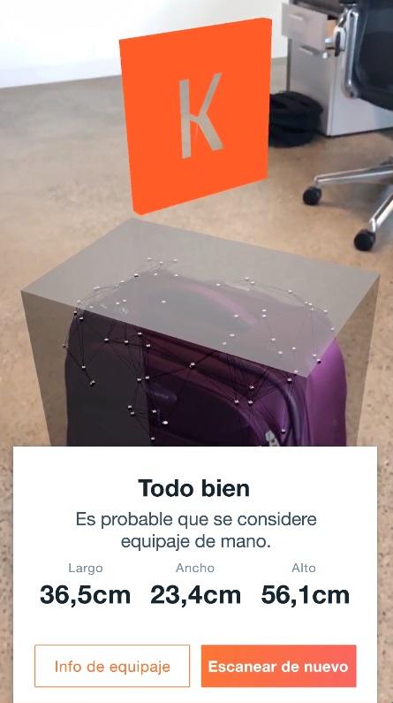 App que mide tu maleta gracias a la realidad aumentada - app-que-mide-tu-maleta