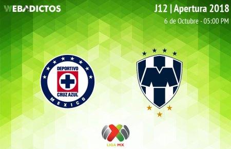 Cruz Azul vs Monterrey, Jornada 12 AP2018 ¡En vivo por internet!