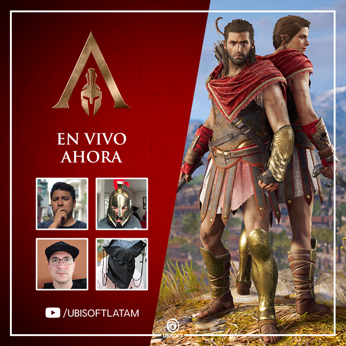 Celebra el lanzamiento de Assassin's Creed Odyssey con un stream especial - en-vivo-lanzamiento-assassins-creed-odyssey