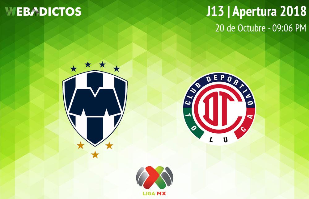 Monterrey vs Toluca, J13 Apertura 2018 ¡En vivo por internet! - monterrey-vs-toluca-apertura-2018