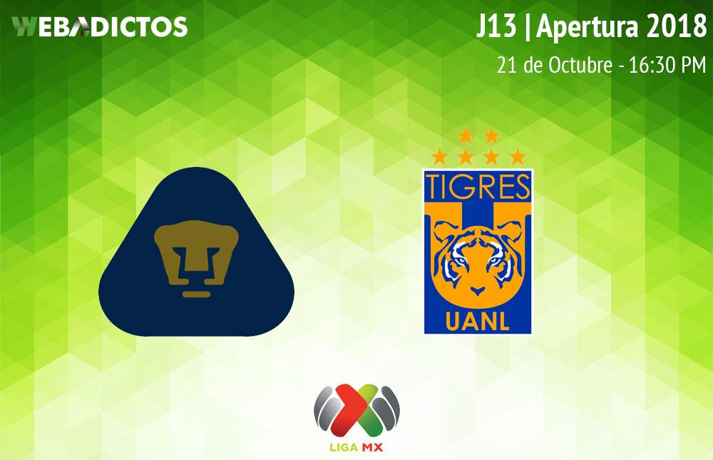 Pumas vs Tigres, J13 del Apertura 2018 ¡En vivo por internet! - pumas-vs-tigres-apertura-2018