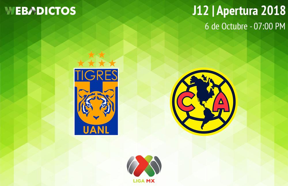 Tigres vs América, J12 de la Liga MX A2018 ¡En vivo por internet! - tigres-vs-america-apertura-2018