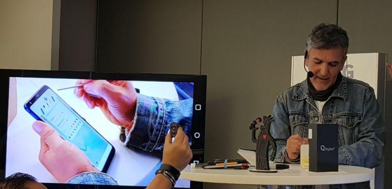 LG realizó una Master Class con el caricaturista Trino para desarrollar arte digital con el LG Q Stylus Alpha - trino2-800x386