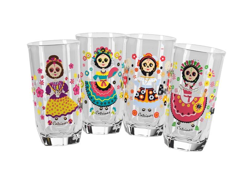 Doña María lanza vasos coleccionables de las Catrinas - 4-vasos-catrinas-000