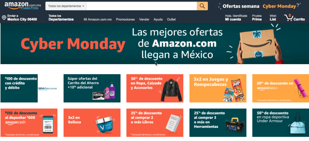 Las ofertas destacadas de Amazon México durante Cyber Monday - amazon-cybermonday