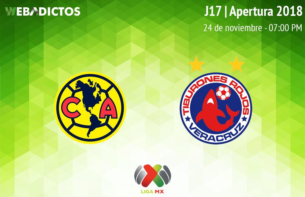 América vs Veracruz, J17 del Apertura 2018 ¡En vivo por internet! - america-vs-veracruz-apertura-2018