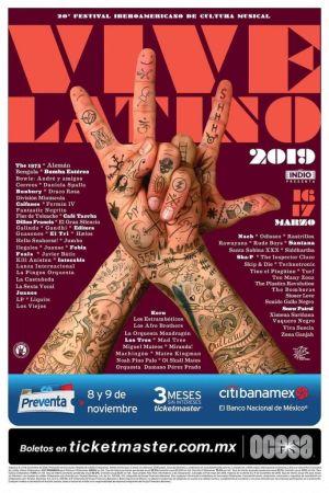 Lineup del Vive Latino 2019