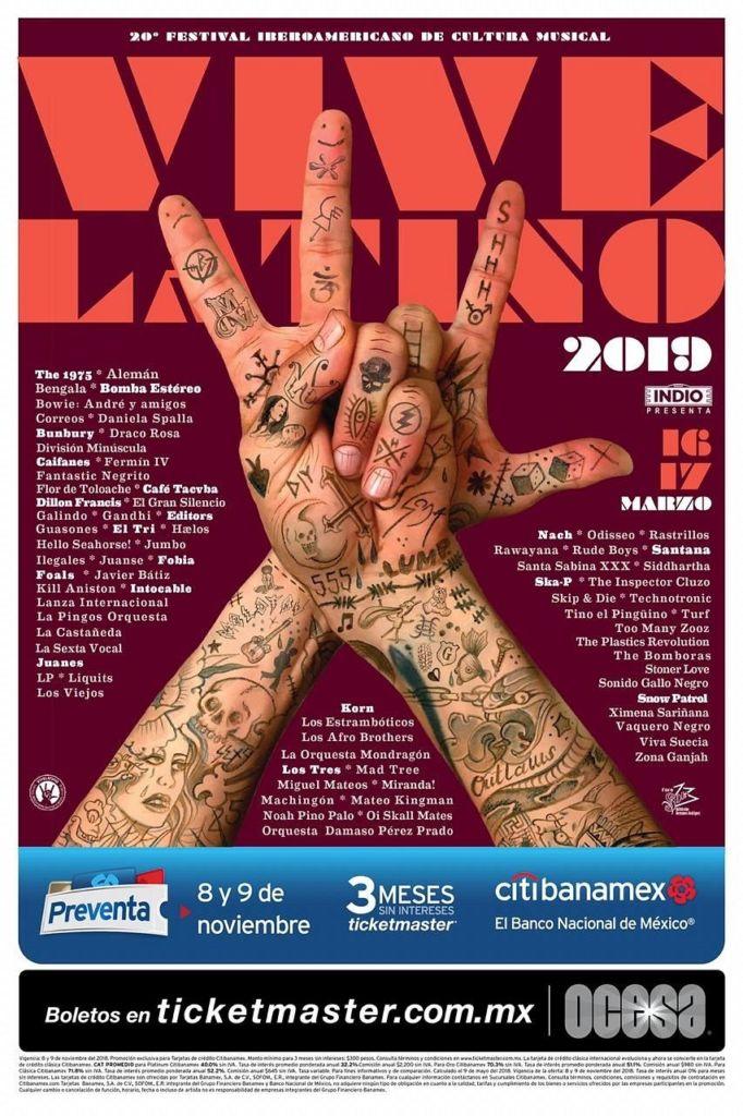 Lineup del Vive Latino...