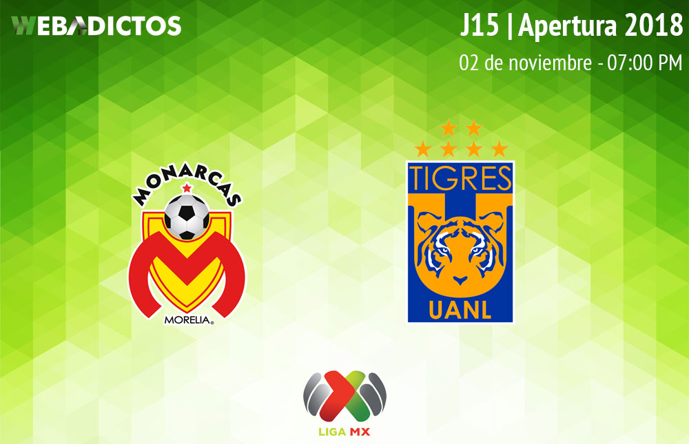 Morelia vs Tigres, Jornada 15 del Apertura 2018 ¡En vivo por internet! - monarcas-morelia-vs-tigres-apertura-2018
