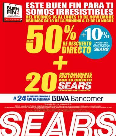 Promociones de Sears en el Buen Fin 2018 en tienda y en línea