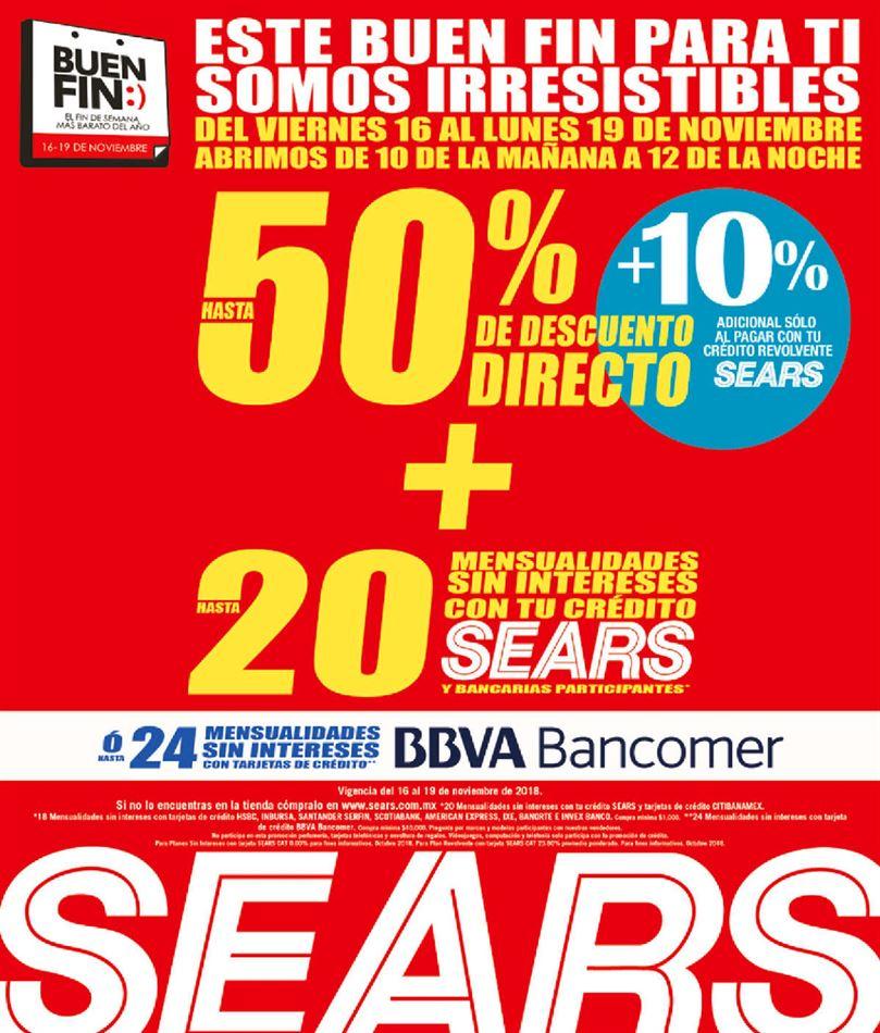 Promociones de Sears en el Buen Fin 2018 en tienda y en línea - ofertas-sears-buen-fin-2018