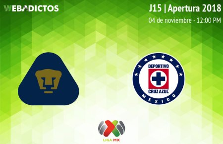 Pumas vs Cruz Azul, J15 del Apertura 2018 ¡En vivo por internet!