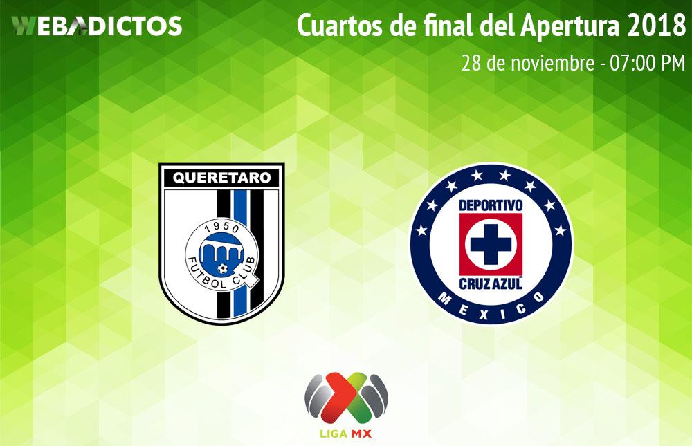 Querétaro vs Cruz Azul, Liguilla de Liga MX A2018 ¡En vivo por internet! | Ida - queretaro-vs-cruz-azul-liguilla-liga-mx-a2018