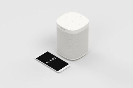 Ofertas del Buen Fin 2018 en Sonos (bocinas, barras de sonido y más) - sonos-one-blanco-1