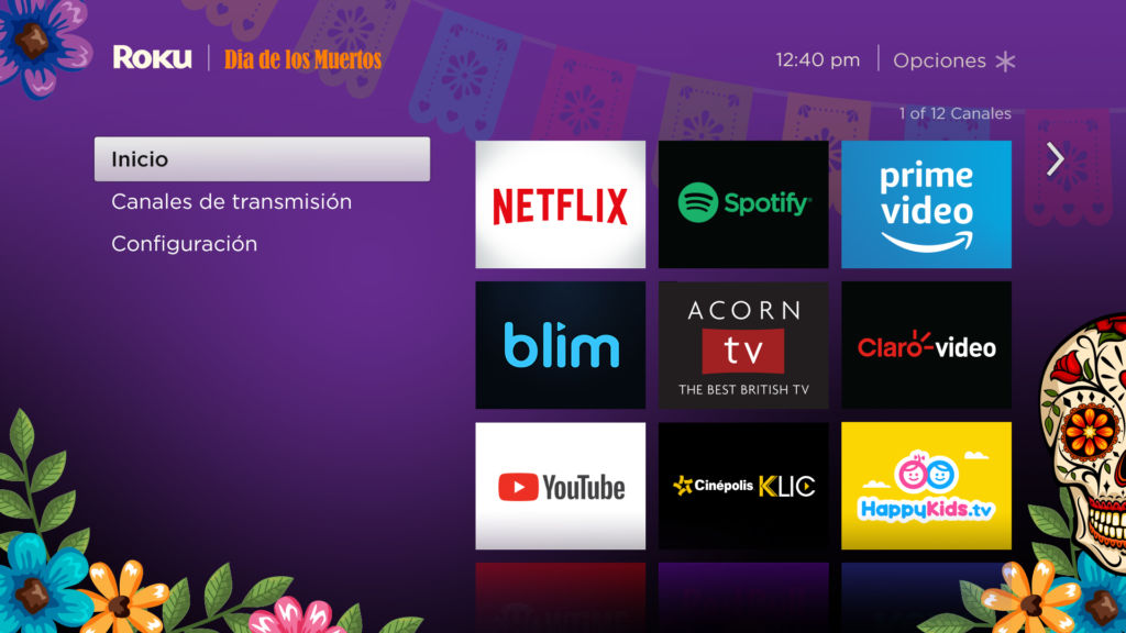 Roku lanza tema especial de Día de Muertos ¡personaliza tu TV! - theme_dia-de-los-muertos_mx