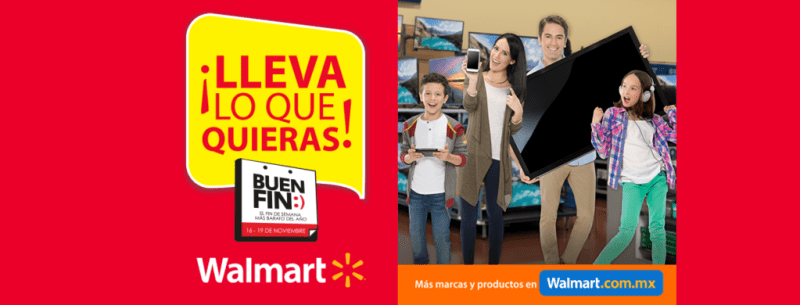Promociones de Sam's, Walmart y Aurrera en El Buen Fin 2018 - walmart-promociones-en-el-buen-fin-2018-800x305