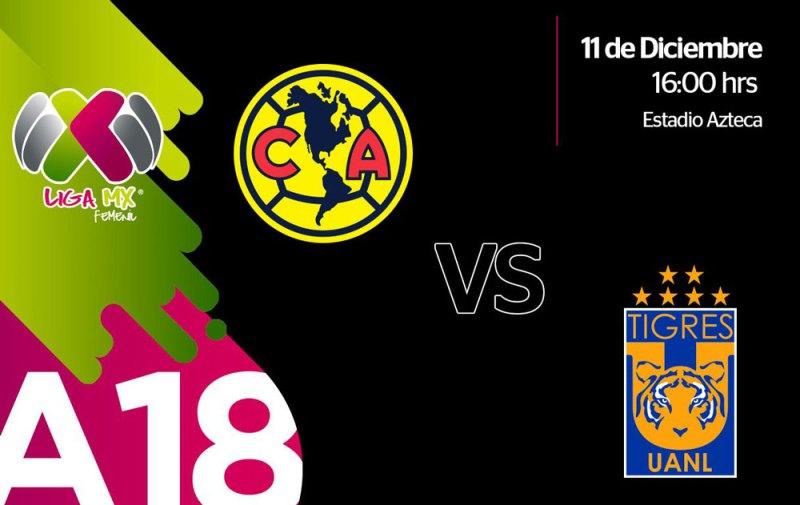 América vs Tigres, Final Femenil A2018 ¡En vivo por internet! - america-vs-tigres-femenil-liga-mx-apertura-2018