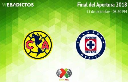 América vs Cruz Azul, Final de Liga MX A2018 ¡En vivo por internet!