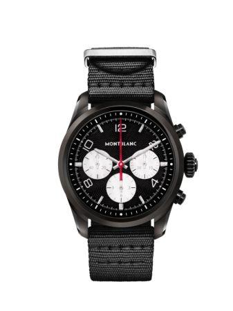 Summit 2 nuevo smartwatch de Montblanc ¡redefine la elegancia de la conectividad! - montblanc_smartwatch_blacksteel_front_nylon