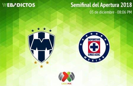 Monterrey vs Cruz Azul, Semifinal Liga MX A2018 ¡En vivo por internet!