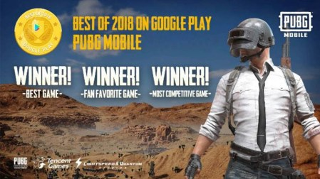 PUBG MOBILE reina en los Google Play Awards y es nombrado Best Game 2018