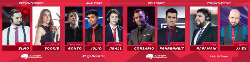 League of Legends 2019: anuncian a los 9 casters para la Liga Movistar Latinoamérica - casters-para-la-liga-movistar-latinoamerica