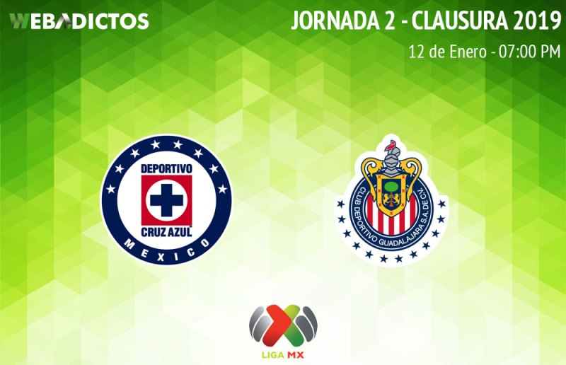 Cruz Azul vs Chivas, J2 del Clausura 2019 ¡En vivo por internet! - cruz-azul-vs-chivas-clausura-2019