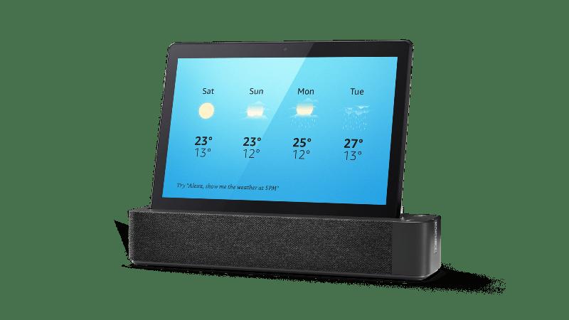 Las novedades que presentó Lenovo en el CES 2019 - lenovo_smart_tab_m10_weather_forecast