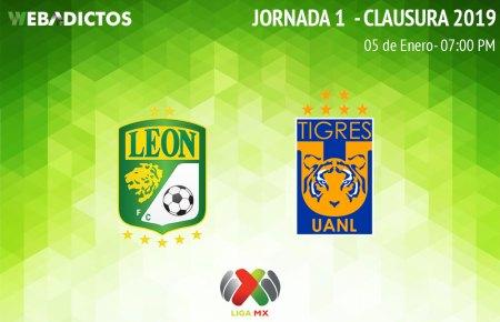 León vs Tigres, Jornada 1 del Clausura 2019 ¡En vivo por internet!