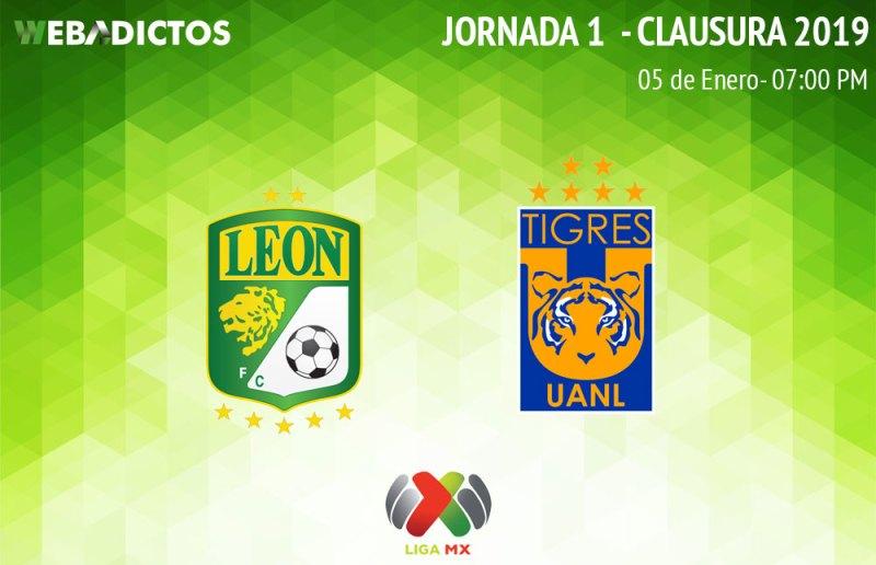 León vs Tigres, Jornada 1 del Clausura 2019 ¡En vivo por internet! - leon-vs-tigres-clausura-2019
