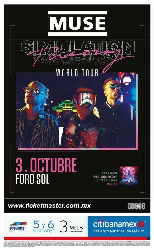Muse anuncian concierto en México - muse-mexico