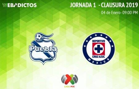 Puebla vs Cruz Azul, Jornada 1 Clausura 2019 ¡En vivo por internet!