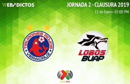 Veracruz vs Lobos BUAP, J2 del Clausura 2019 ¡En vivo por internet!