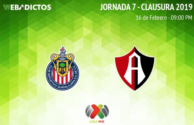 Chivas vs Atlas, Clásico tapatío en C2019 ¡En vivo por internet! - chivas-vs-atlas-clausura-2019