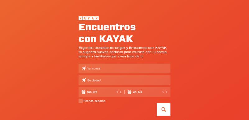 KAYAK lanza función para amor a distancia - encuentros-kayak