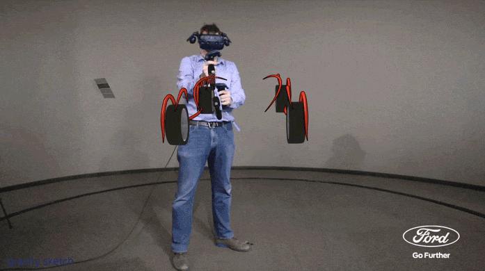 Ford explorar nueva herramienta de realidad virtual 3D para crear diseños de vehículos en menor tiempo - gravity-sketch-una-herramienta-de-realidad-virtual-3d