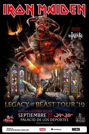 Iron Maiden anuncia una nueva fecha en el Palacio de los Deportes