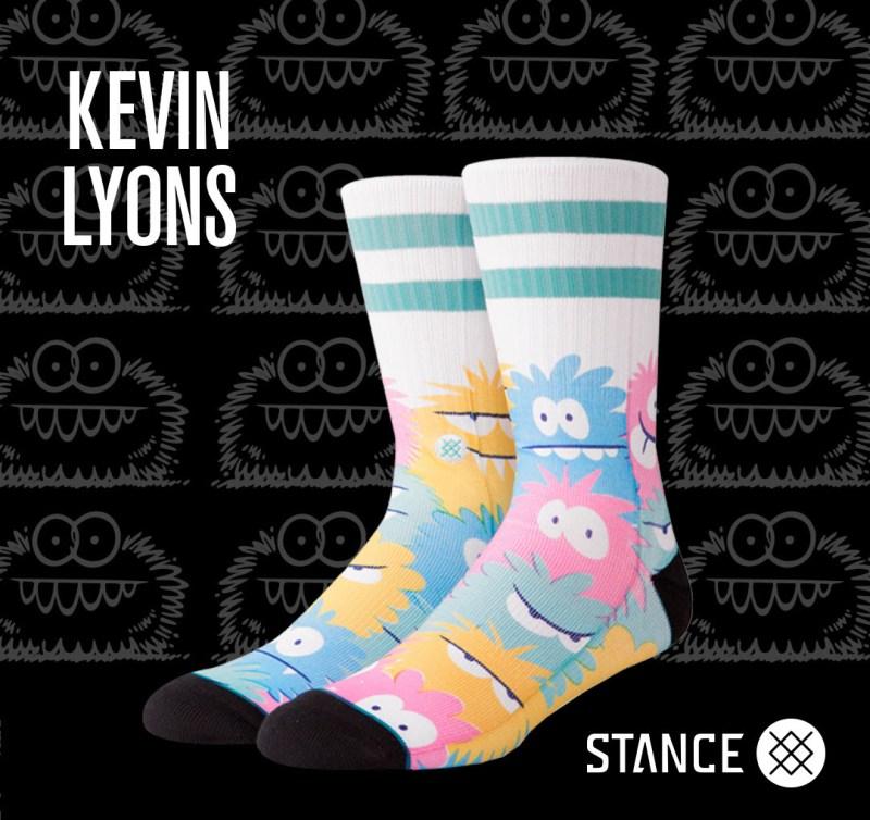 Kevin Lyons y Stance lanzan colección de calcetas de sus emblemáticos personajes MONSTER - kevin-lyons-y-stance_4-1-800x754