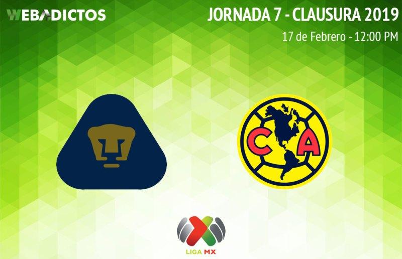 Pumas vs América, Clásico Capitalino C2019 ¡En vivo por internet! - pumas-vs-america-clausura-2019
