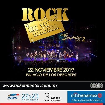 Concierto Rock en tu Idioma Sinfónico Vol. 2 en noviembre